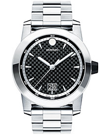 Movado Men's Swiss Vizio Stainless Steel Bracelet Watch 44mm 0607050