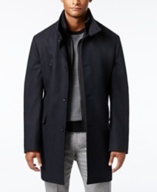 Michael Kors Men's Water-Resistant Bib Overcoat