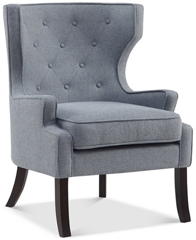 Conlyn Tufted Wing Chair, Quick Ship