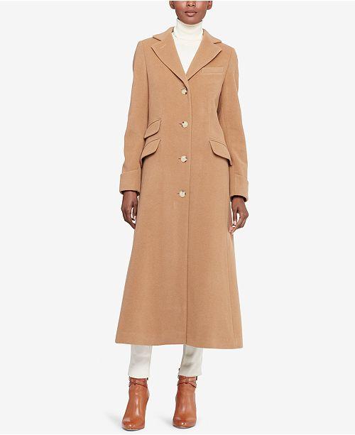 6c2887d3a112 Lauren Ralph Lauren Wool-Cashmere Blend Maxi Reefer Coat   Reviews ...