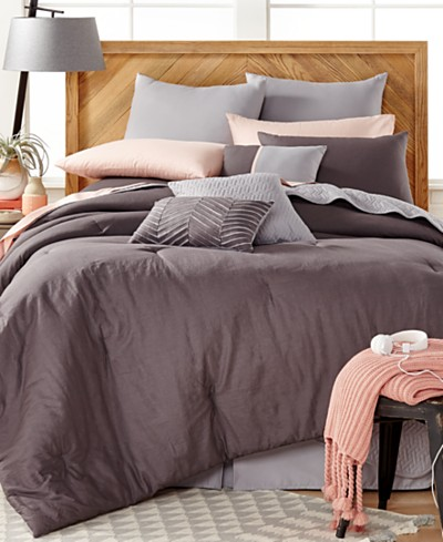 Washed Linen 14-Pc. Comforter Set, Created for Macy's