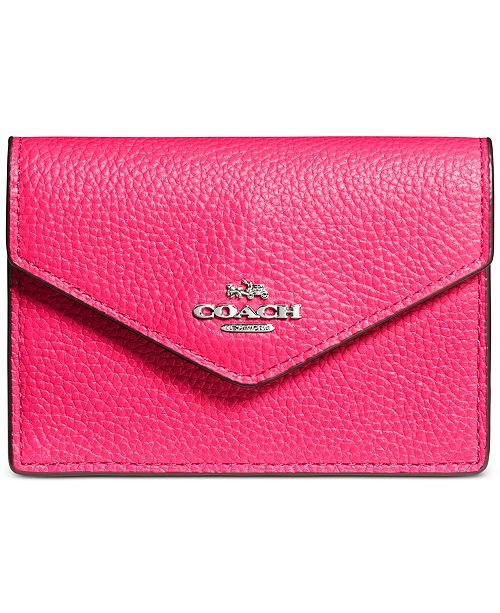 459b99f51813 COACH Envelope Card Case in Pebble Leather   Reviews - Handbags ...