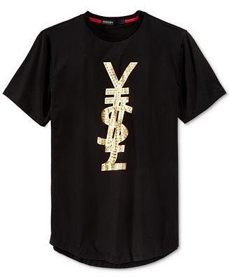 Hudson NYC Men's Foreign Money Studded T-Shirt