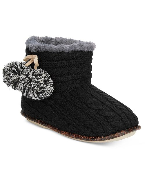 Pj Couture Cable Knit Slipper Booties Handbags Accessories Macys