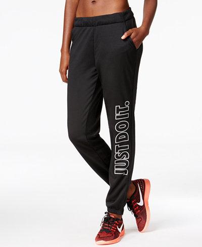 nike dri fit just do it light weight fleece pants pants. Black Bedroom Furniture Sets. Home Design Ideas