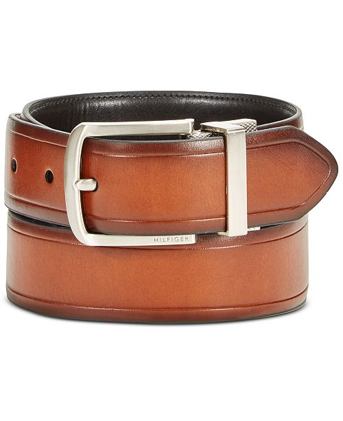 aedcc7305584 Tommy Hilfiger Men s Leather Reversible Belt   Reviews - All ...