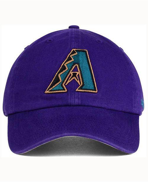 ab5e3a3737b 47 Brand Arizona Diamondbacks Cooperstown CLEAN UP Cap - Sports Fan ...