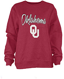 Pressbox Women's Oklahoma Sooners Pigment Dye Fleece Sweatshirt