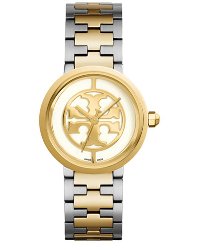Tory Burch Women's Swiss Reva Two-Tone Bracelet Watch 36mm TRB4027