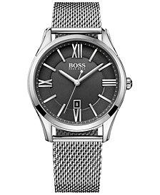 BOSS Hugo Boss Men's Ambassador Stainless Steel Mesh Bracelet Watch 43mm 1513442