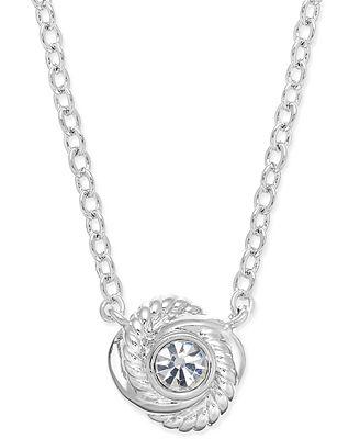 Kate Spade New York Silver Knot Mini Pendant Necklace Silver