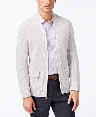 Alfani Men's Flap-Pocket Full-Zip Cardigan, Created for Macy's ...
