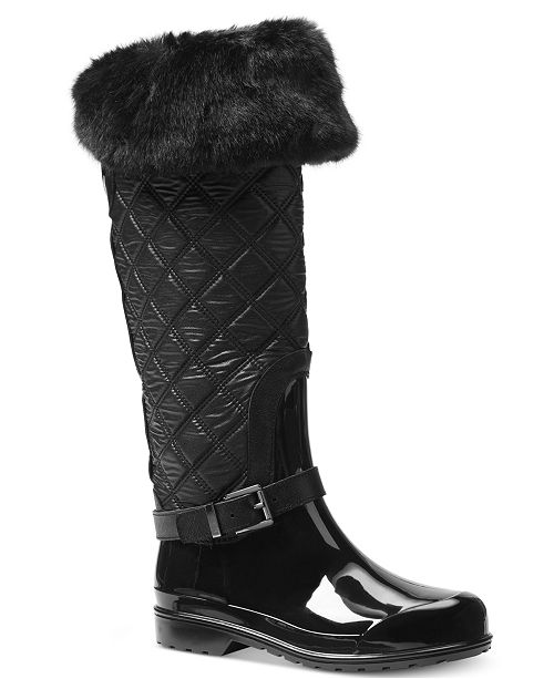 1f14017c6 Michael Kors Fulton Quilted Rain Boots & Reviews - Boots - Shoes ...