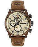 Timberland Men's Henniker 2 Brown Leather Strap Watch