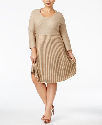 Calvin Klein Plus Size Skater Sweater Dress Dresses