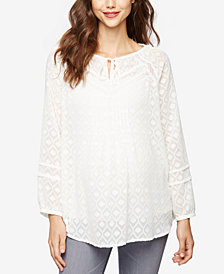 A Pea In The Pod Maternity Patterned Tunic