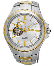 Seiko Men's Automatic Coutura Two-Tone Stainless Steel Bracelet Watch  43mm SSA314