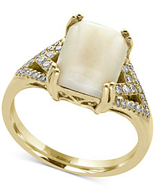Aurora by EFFY® Opal (2 ct. t.w.) and Diamond (1/6 ct. t.w.) Ring in 14k Gold