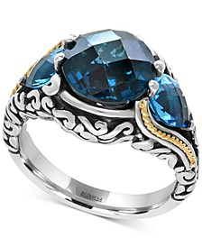 Ocean Bleu by EFFY® Blue Topaz (7 ct. t.w.) Ring in Sterling Silver and 18k Gold-Plate