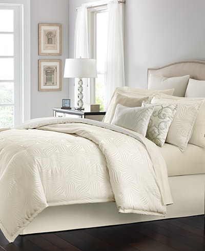 martha stewart collection juliette ivory 14 pc comforter sets bed in a bag bed bath macy 39 s. Black Bedroom Furniture Sets. Home Design Ideas