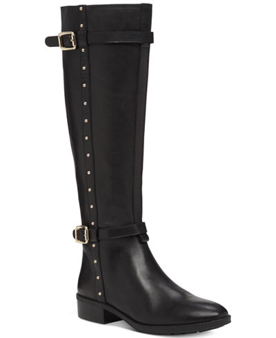 Vince Camuto Preslen Studded Riding Boots Boots Shoes