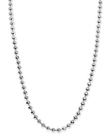 "Beaded 16"" Mini Chain Necklace in Sterling Silver"