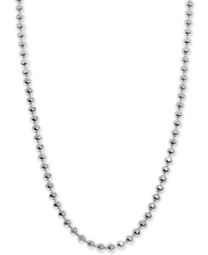 "Image of Alex Woo Alex Woo Beaded 18"" Mini Chain Necklace in Sterling Silver"