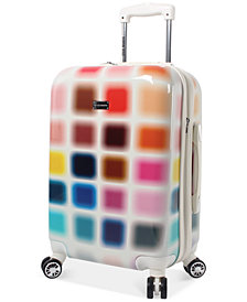"CLOSEOUT! Steve Madden Cubic 20"" Expandable Carry-On Hardside Suitcase"
