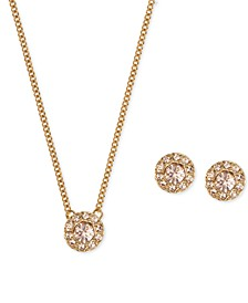 """Necklace and Earring Set, 16"""" + 3"""" Extender"""