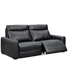 "Marzia 78"" Leather Sofa with 2 Power Recliners, Created for Macy's"