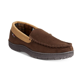 32 Degrees Mens Venetian Faux Suede & Memory Foam Slippers
