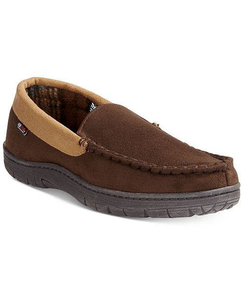 32 Degrees Men's Venetian Faux Suede & Memory Foam Moccasin Slippers