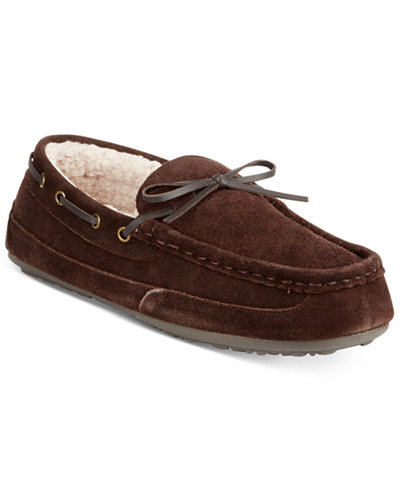 Rockport Men's Suede Moccasin Slippers
