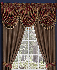 "Croscill Sebastian Waterfall Swag 48"" x 33"" Window Valance"