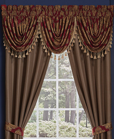 Croscill Sebastian Waterfall Swag 48 Quot X 33 Quot Window Valance Bedding Collections Bed