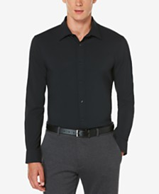 Perry Ellis Men's Non-Iron Stretch Woven Shirt