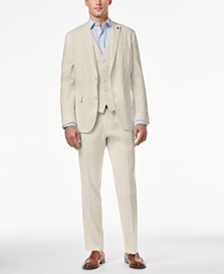 I.N.C. Men's Stretch Slim Fit Linen Suit Separates, Created for Macy's