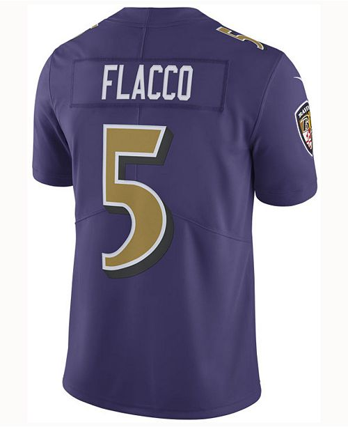 huge discount 82058 a7350 Nike Men's Joe Flacco Baltimore Ravens Limited Color Rush ...