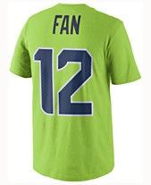 Nike Men s Fan  12 Seattle Seahawks Color Rush Name   Number T-Shirt 9ee9fe622