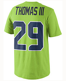 Nike Men's Earl Thomas III Seattle Seahawks Color Rush Name & Number T-Shirt