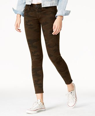 Hudson Jeans Camo Print Super-Skinny Ankle Jeans