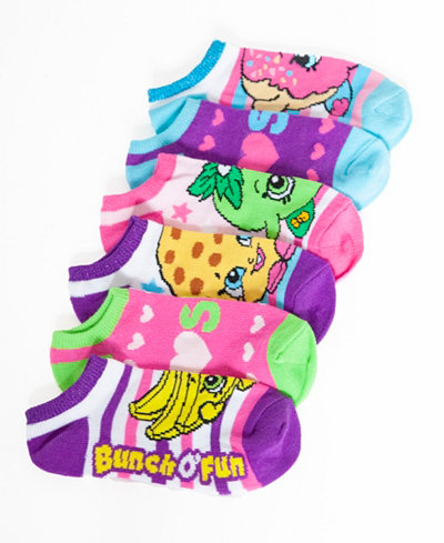 5-Pk. Shopkins 5-Pk. No-Show Ankle Socks, Toddler Girls (2T-5T) & Little Girls (2-6X)