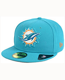 New Era Miami Dolphins Beveled Team 59FIFTY Cap