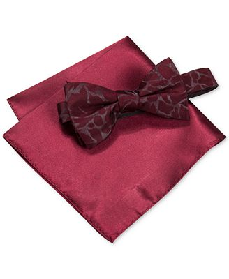 alfani s walsh abstract bow tie pocket square set
