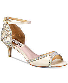 Badgley Mischka Gillian Peep-Toe d'Orsay Pumps