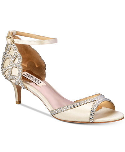 Badgley Mischka Gillian Peep-Toe d'Orsay Pumps