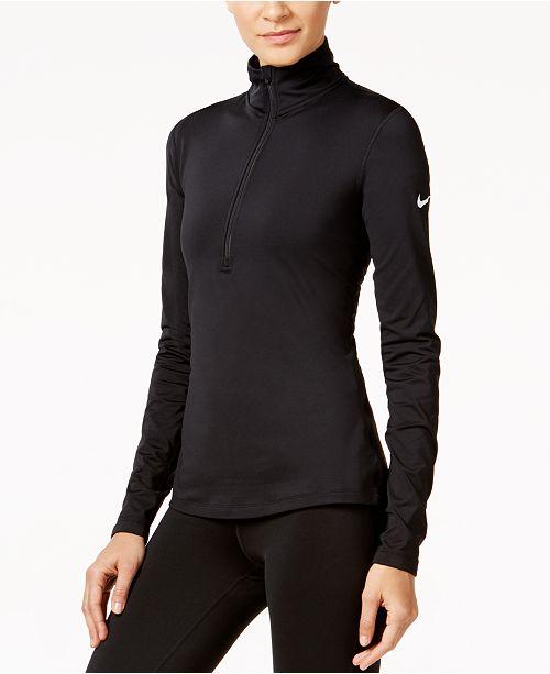 52ddbd602923 Nike Pro Warm Dri-FIT Fleece-Lined Half-Zip Training Top   Reviews ...