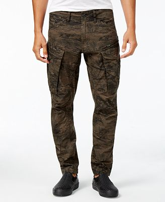 G-Star RAW Men's Rovic 3D Tapered Camouflage Cargo Pants - Pants ...