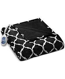 Beautyrest Oversized Ogee Heated Throw