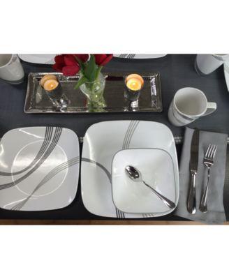 Corelle Urban Arc 16-Pc. Set Service for 4  sc 1 st  Macyu0027s & Corelle Urban Arc 16-Pc. Set Service for 4 - Dinnerware - Dining ...